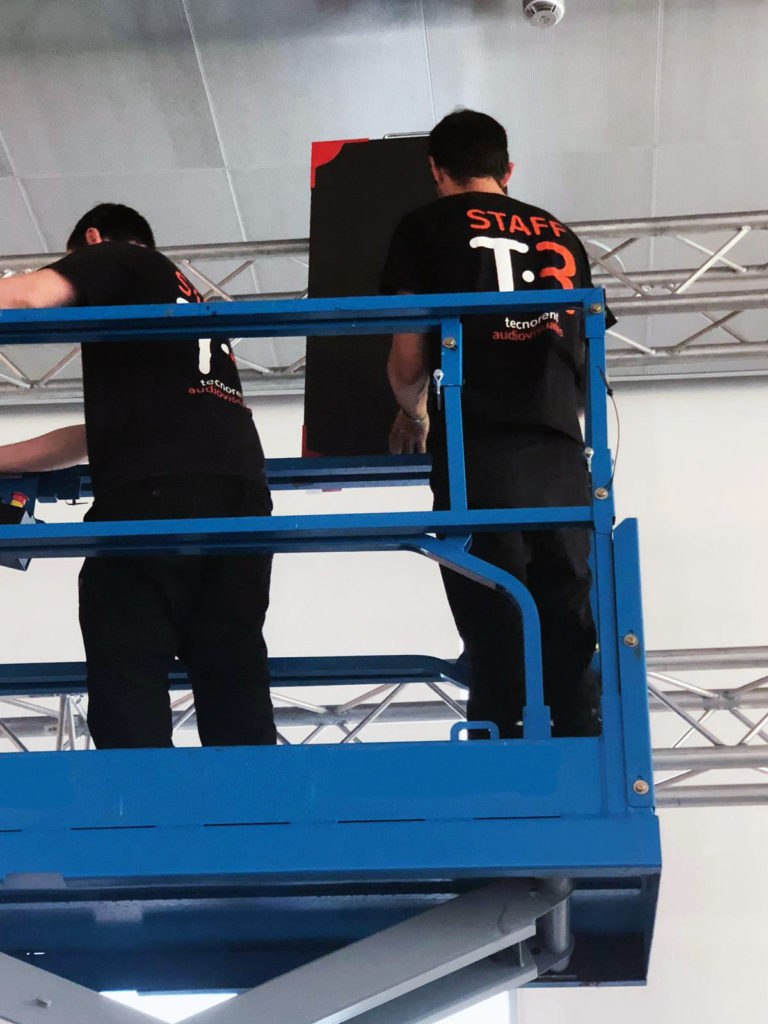 Hanging LED screen in height - OFFF Festival