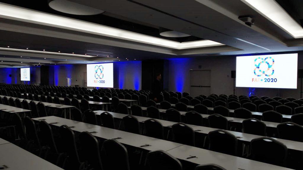 Pre apertura de la sala plenaria del ACM FAT 2020
